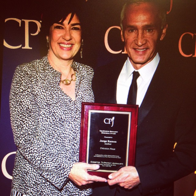 With Christiane Amanpour at the CPJ event in NY