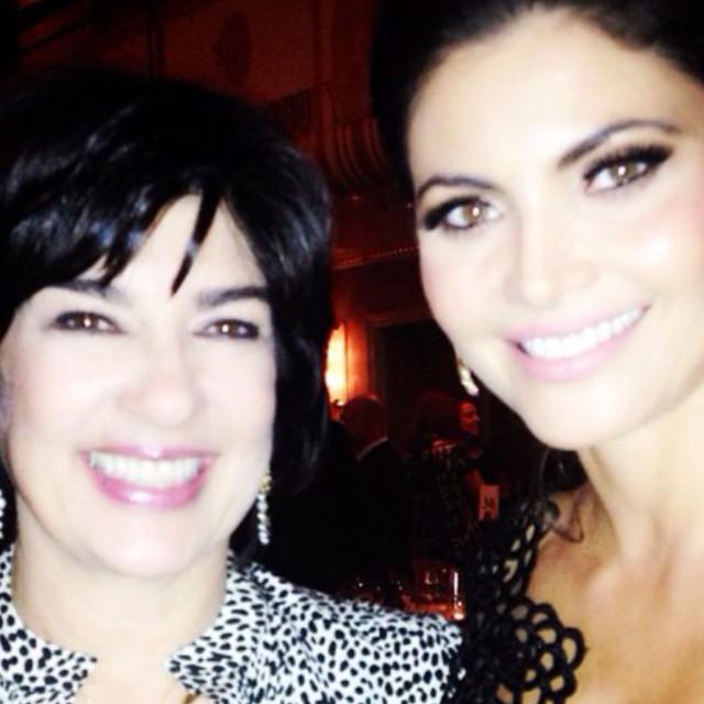 Chiqui y Christiane Amanpour anoche en los premios de CPJ en NY
