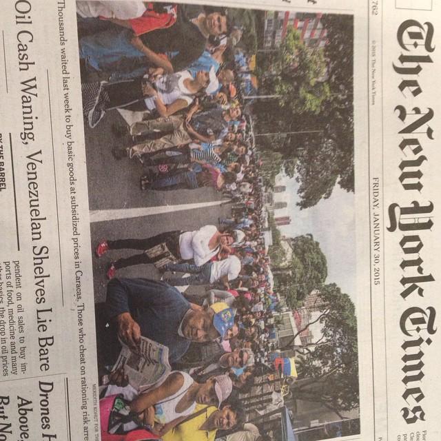 Portada del New York Times: las filas en Venezuela