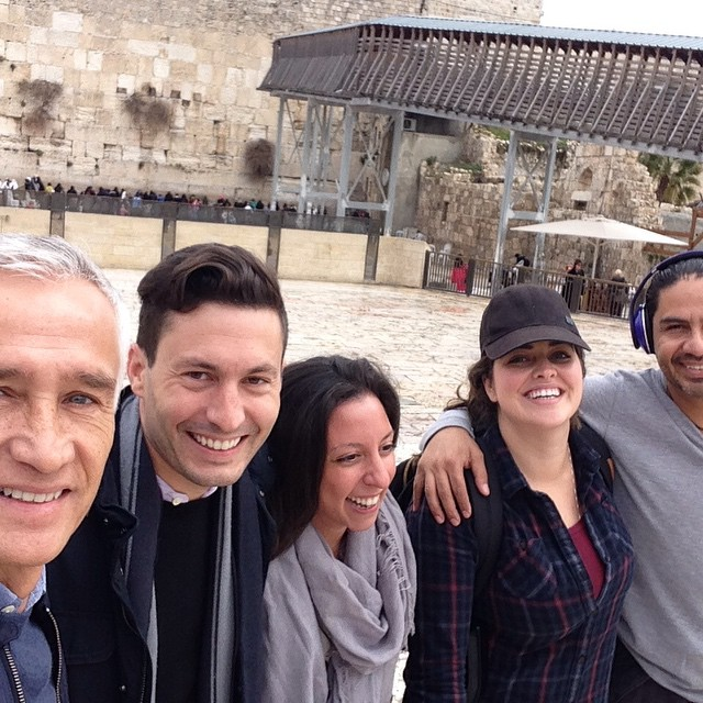With the Fusion team at the Western Wall. Getting ready for a special program