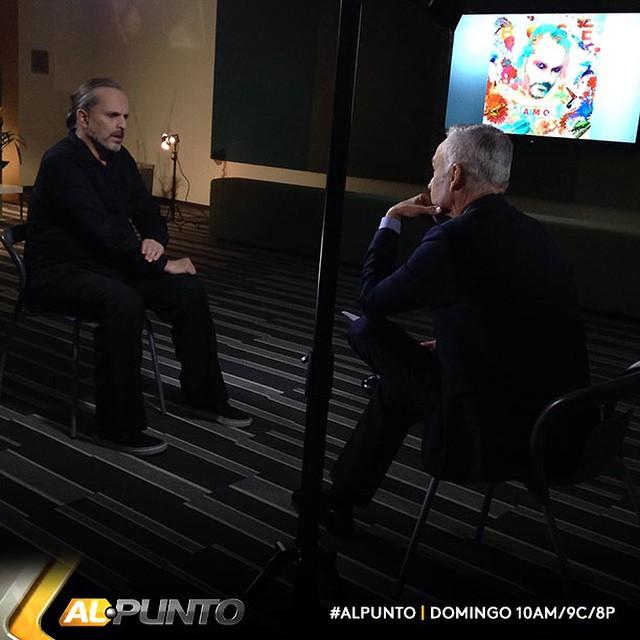 Con Miguel Bose @boseofficial La entrevista el Domingo por Univision 10am