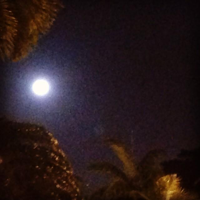 Luna/moon sobre/over Miami