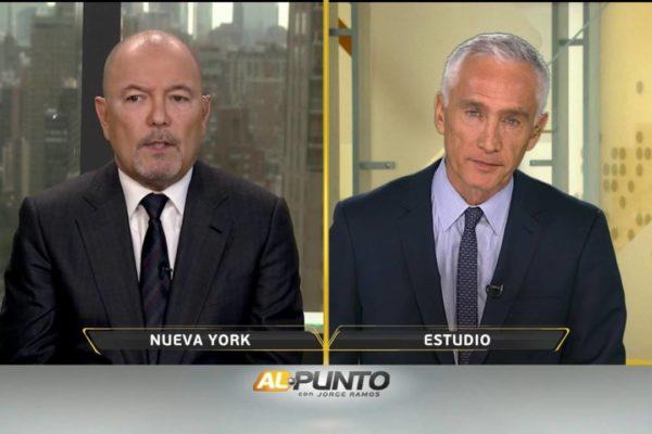 """Jorge Ramos habla con Rubén Blades sobre Trump, Venezuela, y su nueva película """"Hands of Stone"""""""