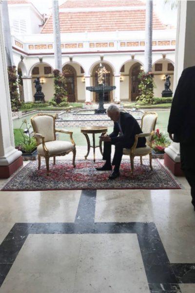 Jorge Ramos en el Palacio de Miraflores